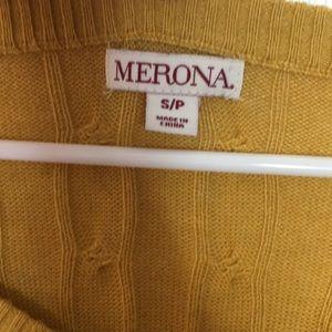 Merona Sweaters - MERONA yellow/mustard knit sweater size small